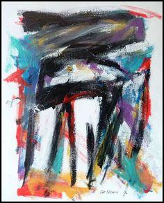 N°865 Pat Pellerin. Acrylique et crayon gras sur carton toilé 40x50 cm.