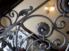 A detail of the wrought iron crafted in Italy.