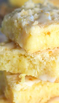 Pineapple Bars with Coconut Drizzle | Laughing Spatula