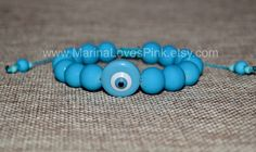 A personal favourite from my Etsy shop https://www.etsy.com/listing/550548113/evil-eye-greek-bracelet-matte-turquoise