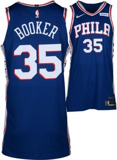 Trevor Booker Philadelphia 76ers Player-Issued  35 Blue Jersey from the 2017 -18 fc7d5ae42