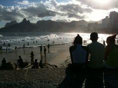 The view from Arpoador Rock, Parque Garota de Ipanema, Rio de Janeiro, Brazil