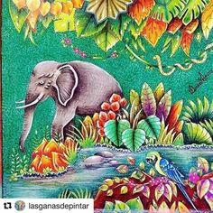 Inspirational Coloring Pages by @lasganasdepintar #johannabasford #magicaljungle…