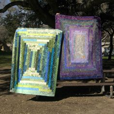 jelly roll quilts... I like these better than the jelly roll race concept.