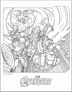 Marvel Avengers Coloring Page From The Category Select 25744 Printable Crafts Of Cartoons Nature Animals Bible And Many More