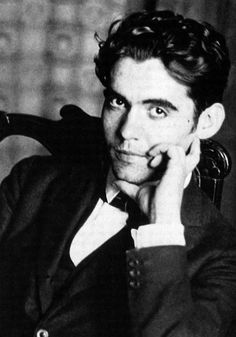 """Garcia Lorca. Poet, playwright, total babe. Assassinated at the outbreak of the Spanish Civil War.    """"I will never be political. I am a revolutionary because there are no true poets that are not revolutionaries."""""""