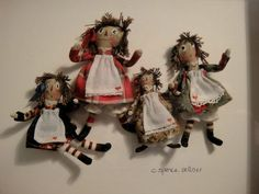 Carol Spence Sellner's Framed Raggedy Ann Dolls, Signed