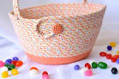Orange Easter Basket Handmade Easter Bucket Lego Storage