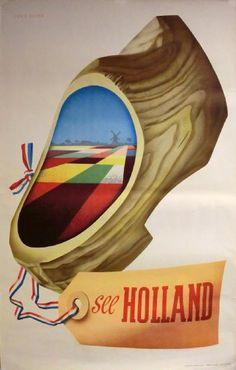 Poster: See Holland Artist: Cornelius van Velsen Vintage Advertisements, Vintage Ads, Westerns, Retro Poster, Poster Vintage, Advertising Poster, Vintage Travel Posters, Illustrations And Posters, Poster Prints