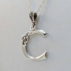 FashionJunkie4Life - Sterling Silver Celtic Initial Letter C Necklace, $18.00 (http://www.fashionjunkie4life.com/sterling-silver-celtic-initial-letter-c-necklace/) Use coupon code PIN10 for 10% off your entire purchase and free shipping worldwide.