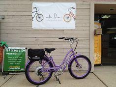 Gorgeous purple Pedego Step-Through  Electric Bike