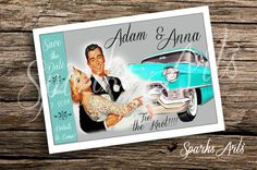 Hey, I found this really awesome Etsy listing at https://www.etsy.com/listing/184424490/custom-retro-50s-save-the-date-wedding