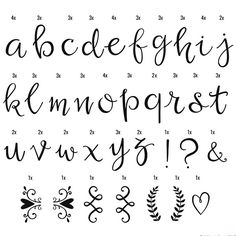 Symbolen en letters Script handschrift - Lightbox letter set - A Little Lovely Company