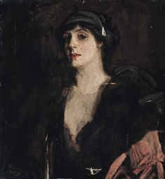 Mrs Patrick Campbell (1912).Sir John Lavery (Irish, 1856-1941). Oil on canvas.Mrs Patrick Campbell, otherwise known as Mrs Pat, was a succesful English stage actress. Mrs Pat played such famous roles as Hedda in Hedda Gabler, Ophelia in Hamlet, Lady Macbeth and Juliet in Romeo and Juliet. Two years after this portrait was painted, Mrs Pat played Eliza Doolittle in the original West End Production of Pygmalion, specifically written for her by George Bernard Shaw.