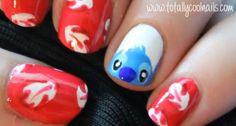 Lilo and Stitch Nail Art Disney