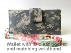 Women wallet Sweet love  ID clear pocket and by PatrisCorner