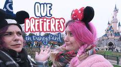 ¿QUÉ PREFIERES? en DisneyLand París| IRMIM