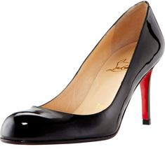 Christian Louboutin Simple Patent 85mm Red Sole Pumps Satin Pumps, Patent Leather Pumps, Leather Heels, Metallic Leather, Red Leather, Stiletto Heels, High Heels, Napa Leather, Red Sole