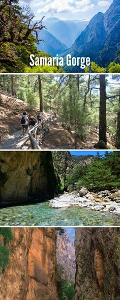 Samaria Gorge in Crete, the second longest canyone in Europe!
