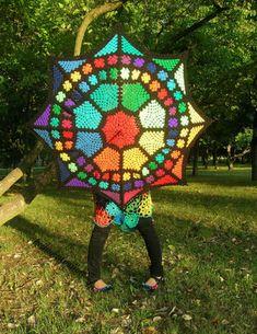 #Crochet umbrella made by Babukatorium.