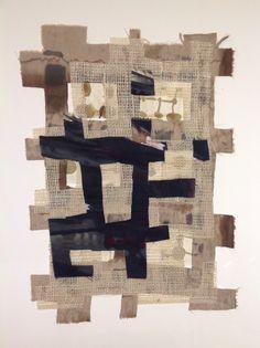 Cesare Saccenti Painted Fabric collage. 50x70 cm. 2015