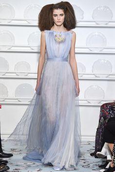 Schiaparelli | Spring 2016 Couture | 38 Blue sleeveless maxi dress