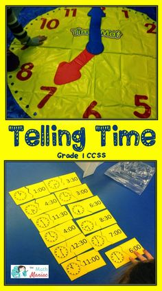Step into my classroom and see how I work with first graders on telling time to the hour and half hour.  See how we move from a whole group lesson to partner workstations to a quick assessment.