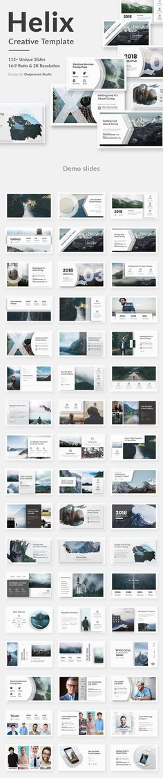 Helix Creative Powerpoint Template by One Percent Studio on @creativemarket