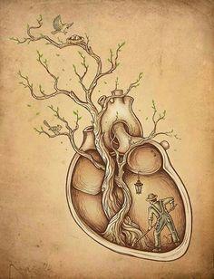 """Tree of Life Art"" - Enkel Dika {anatomical art illustration} Art And Illustration, Illustrations Posters, Illustration Fashion, Creative Illustration, Street Art, Tree Of Life Art, Ouvrages D'art, Wow Art, Pics Art"