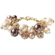 Stella & Dot Audrey Cluster Bracelet ❤ liked on Polyvore
