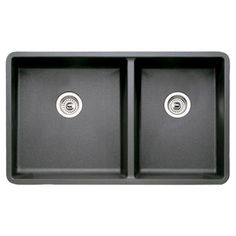 LOWE's USA $429 BLANCO Precis Double-Basin Undermount Granite Kitchen Sink