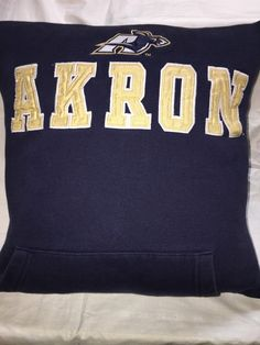 A personal favorite from my Etsy shop https://www.etsy.com/listing/471271002/akron-ohio-university-sweatshirt-pillow