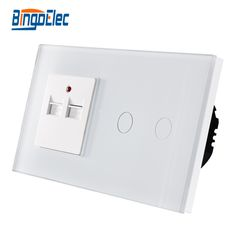 Luxury tempered glass panel wall touch switch and usb wall socket