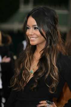 Image Detail for - Hair Styles for Long Hair » dark hair with peekaboo highlights