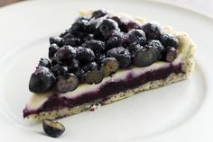 Driscoll's Blueberry Crème Fraiche Tart with Poppy Seed Crust | www.driscolls.com