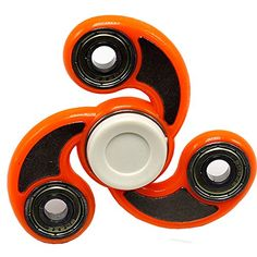 Whoishe Orange Hand Spinner Fidget Toy EDC Tri Fidget Spinner for Killing Time Quiet & Fast 3-5 Minutes Spin Time