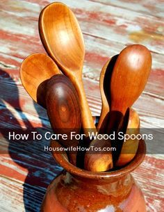 Wood spoons can be gorgeous and economical, if you know how to care for them. Refurbish and protect yours using these easy steps from HousewifeHowTos.com.