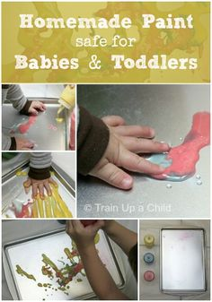 Homemade Paint Safe for Babies and Toddlers - Creative Sensory Play with Edible Ingredients