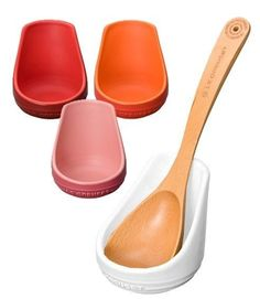 Le Creuset Ladle Stand Stoear Orange White Cherry Red Pink Spoon Spatula