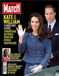 Edition belge de Paris Match n° 587 du 6 décembre 2012, avec Kate et William en couverture.