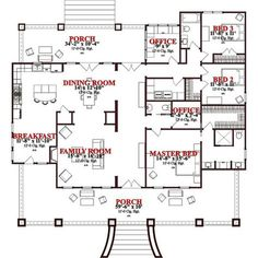 Craftsman Style House Plan - 3 Beds 2.5 Baths 2366 Sq/Ft Plan #63-343 Floor Plan - Main Floor Plan - Houseplans.com