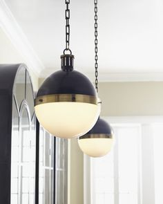 Love these globe lights.  Could work w/various styles.  Classic and modern at the same time.