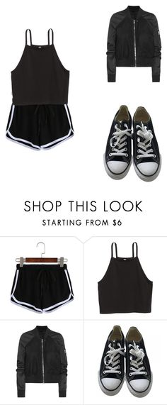 """""""sporty 1"""" by merel-meuleman ❤ liked on Polyvore featuring Rick Owens and Converse"""
