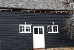 Painted hardwood cottage style windows and door Timber Windows, Windows And Doors, Surrey, Joinery, Cottage Style, Hardwood, Garage Doors, Barn, London