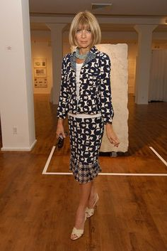 Vogue hosts Ann Taylor's 50th-anniversary celebration at the Chelsea Art Museum, September 2004.