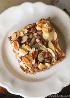 Almond Toffee Bars -