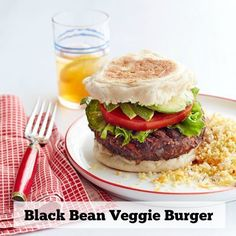 Black beans make these vegetarian burgers both hearty and full of flavor. Get the recipe.