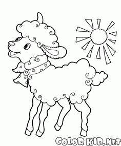 Vous pouvez télécharger et imprimer les pages à colorier pour les enfants Mouton avec larc depuis notre site Web.