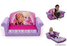 Kids Sofa Bed Disney Frozen 2 In 1 Flip Open Children Furniture Bed Toddler Soft #MarshmallowFurniture
