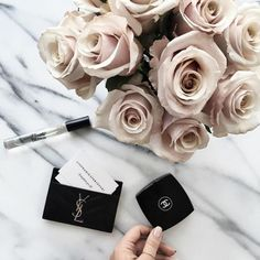 YSL Card holder and Chanel makeup